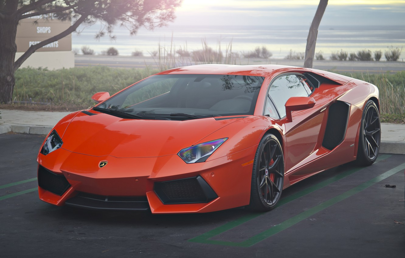 Photo wallpaper Lamborghini, LP700-4, Aventador, Wheels, HRE