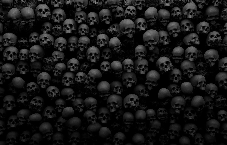 Photo wallpaper death, background, skull, a lot