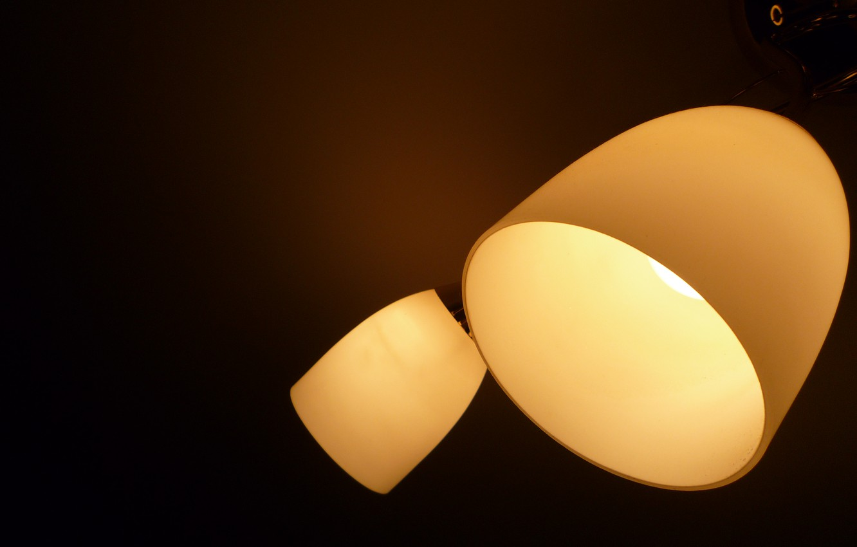 Photo wallpaper darkness, Lamp