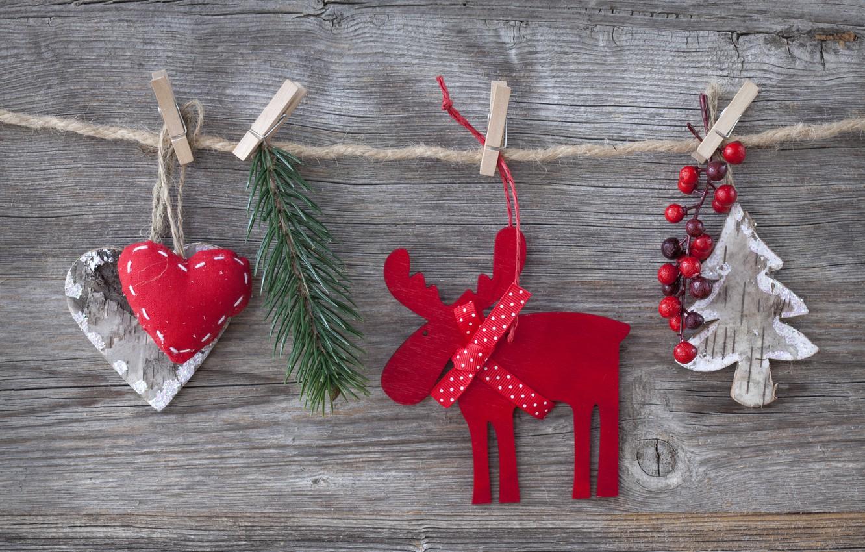 Photo wallpaper decoration, cherry, toys, tree, heart, hearts, toys, New Year, Merry Christmas, cherry, clip, Christmas tree, …