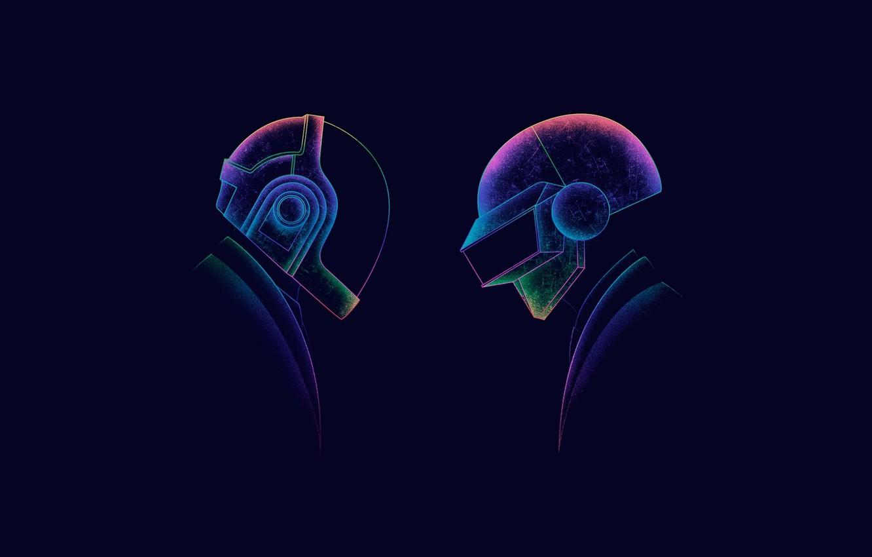 Photo wallpaper Minimalism, Figure, Music, Art, Art, Music, Daft Punk