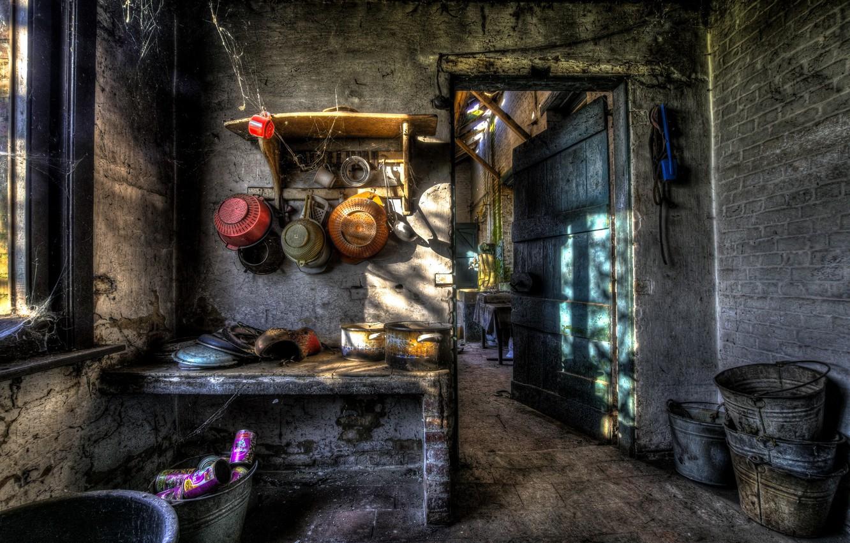 Photo wallpaper furniture, kitchen, dishes