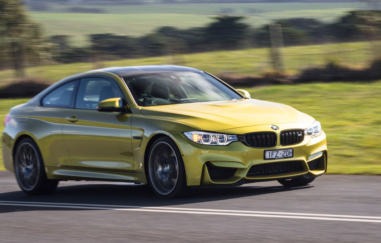 Photo wallpaper road, car, auto, speed, BMW, road, Coupe, Competition Package, M4