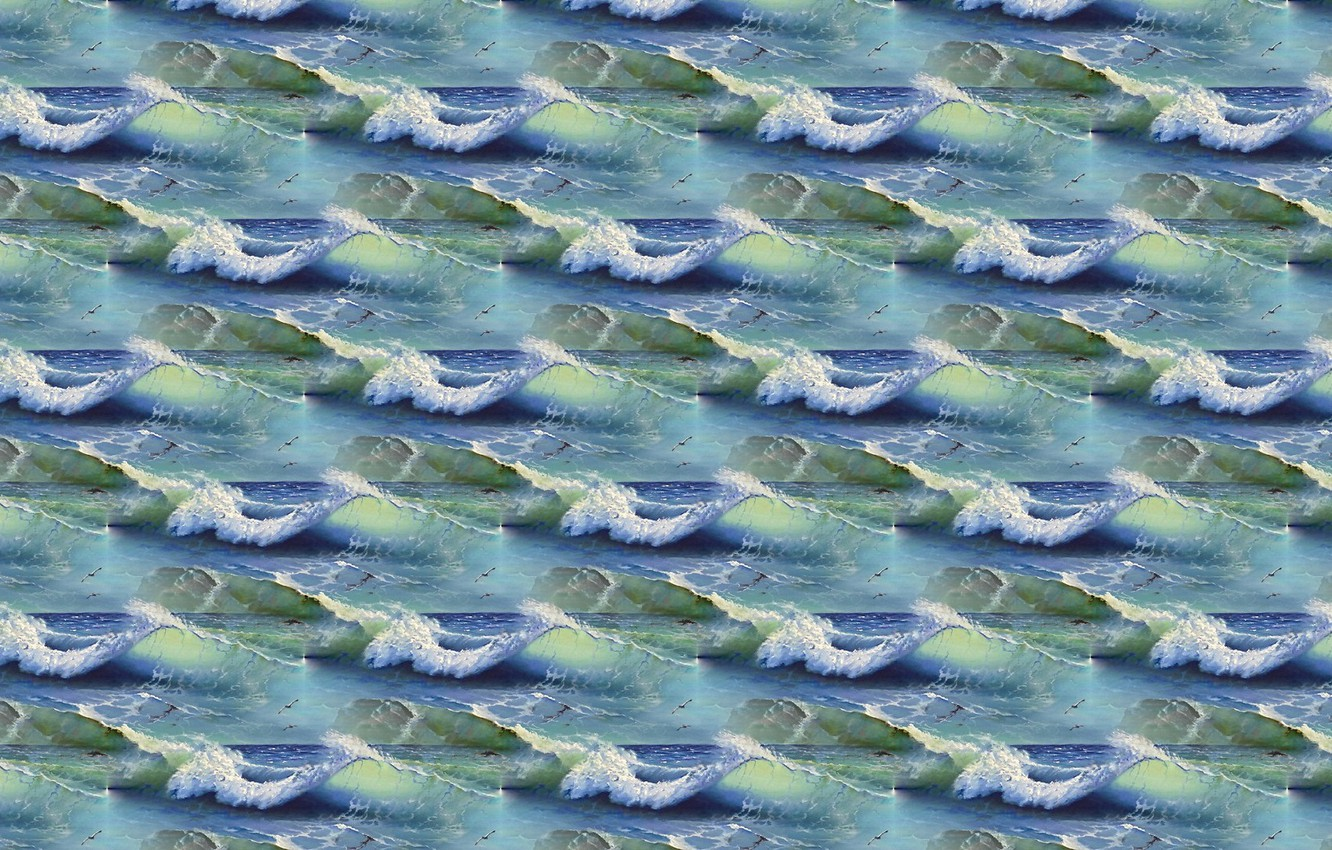 Photo wallpaper sea, wave, water, background, the ocean