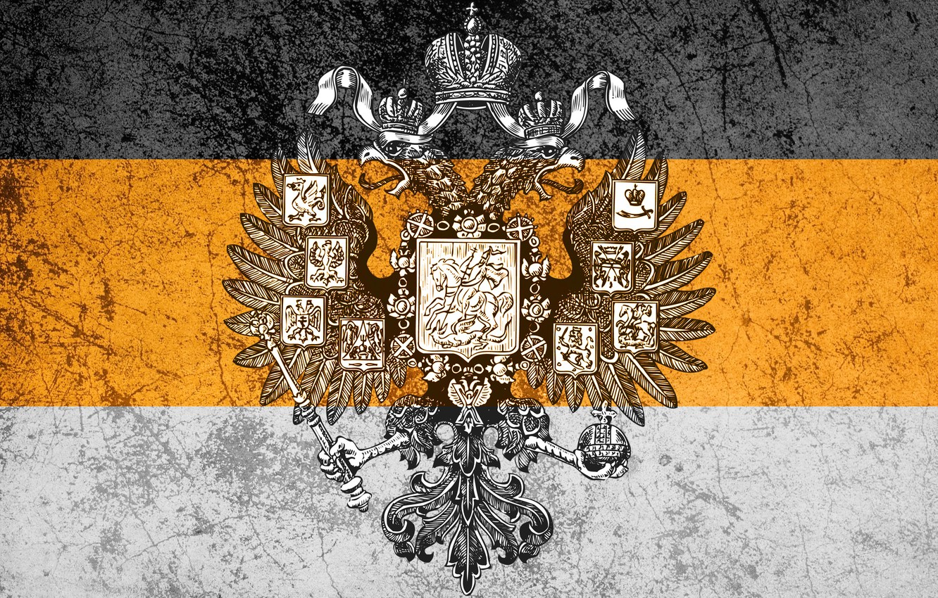 Photo wallpaper Russia, coat of arms, Imperial flag