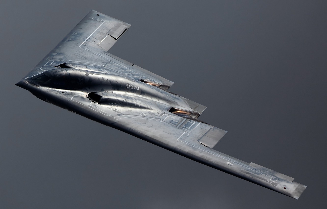 Photo wallpaper the sky, weapons, the plane, B-2 Spirit