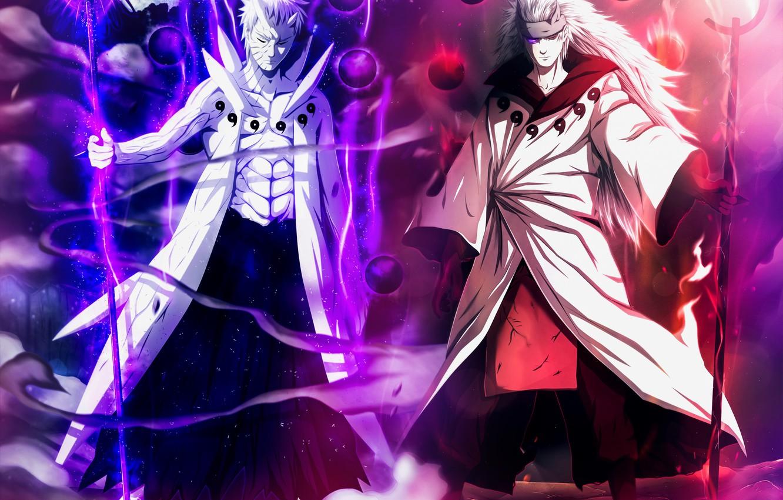 Photo wallpaper Naruto, God Of War, God, Obito, Uchiha Powers
