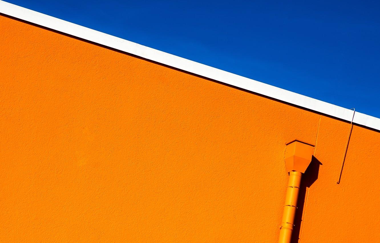 Photo wallpaper the sky, wall, urban minimalism