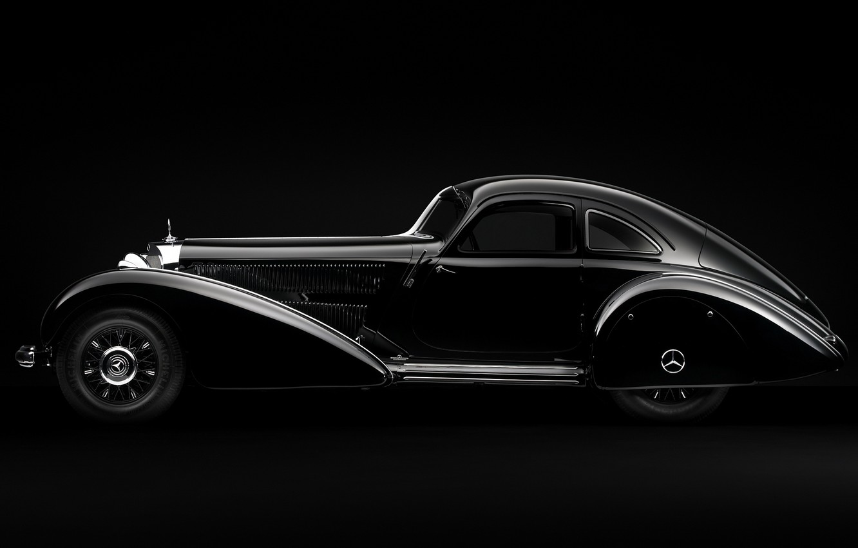 Photo wallpaper minimalism, Mercedes, Machine, black and white, Mercedes