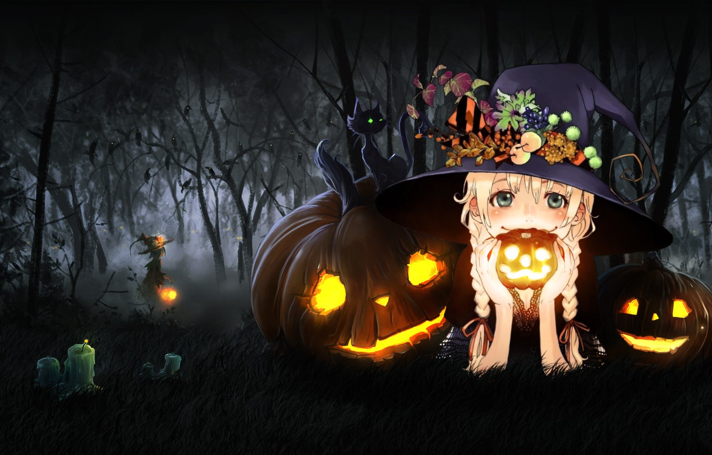Photo wallpaper Halloween, Fantasy, holidays, Honnoror