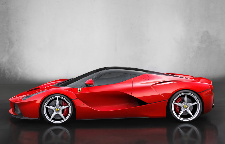 Photo wallpaper auto, car, Ferrari, Ferrari, side view, 2013, LaFerrari