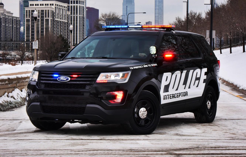 Photo wallpaper Ford, police, Ford, Police, Interceptor, 2015, U502