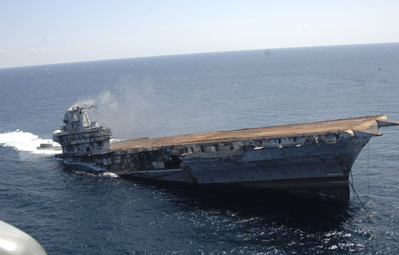 Photo wallpaper sea, water, ship, destruction