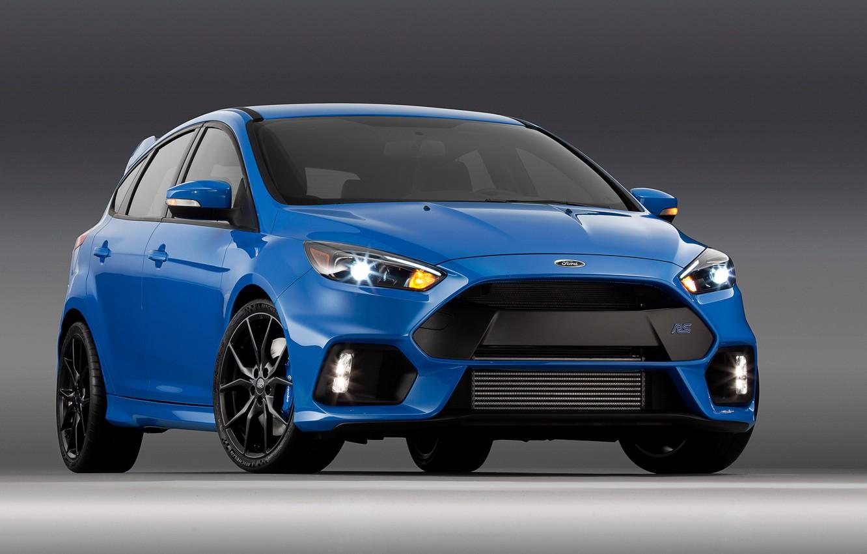 Photo wallpaper blue, Ford, focus, Focus, Ford, US-spec, 2015