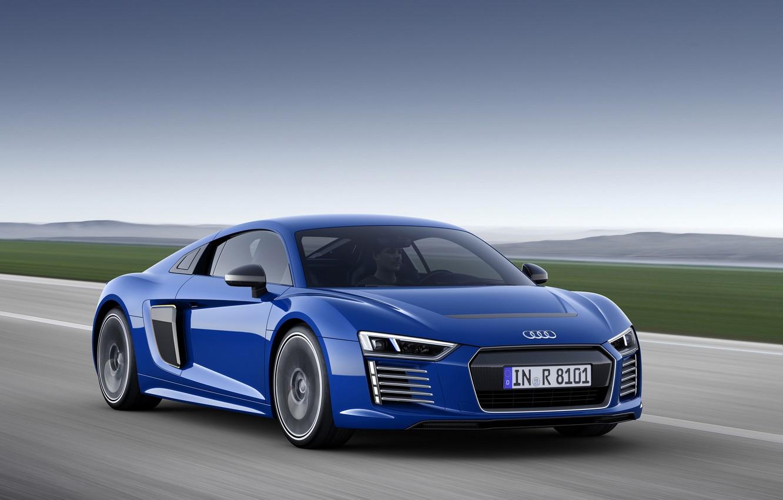 Photo wallpaper blue, Audi, Audi, e-tron, 2015