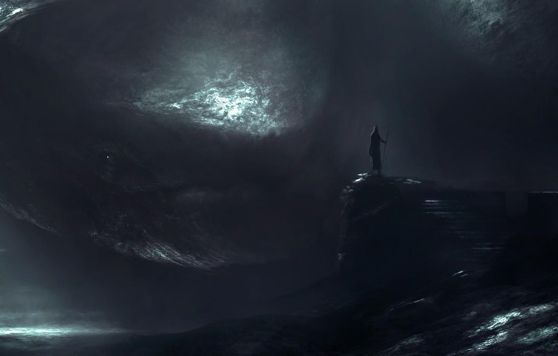 Photo wallpaper dark, meeting, monster, something, dungeon