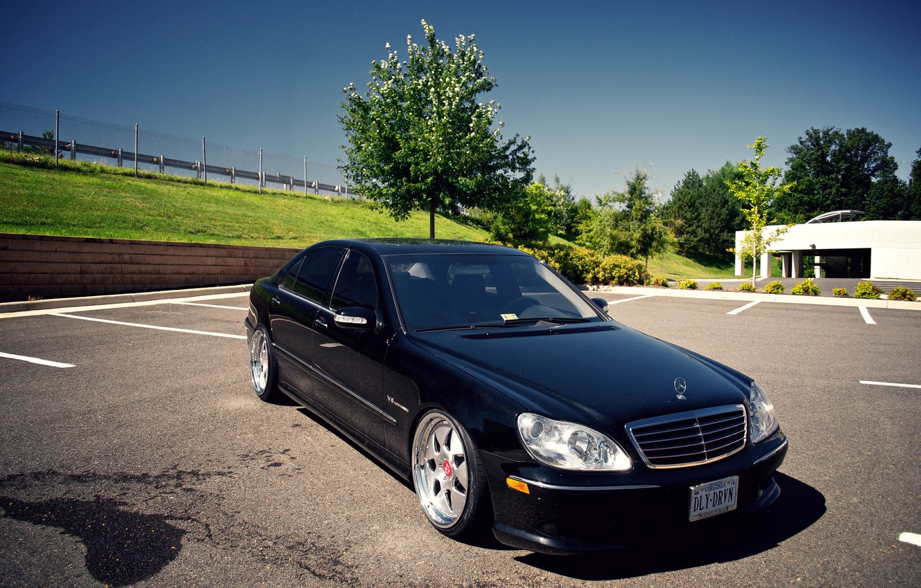 Photo wallpaper tuning, Mercedes-Benz, Mercedes, AMG, tuning, stance, S55
