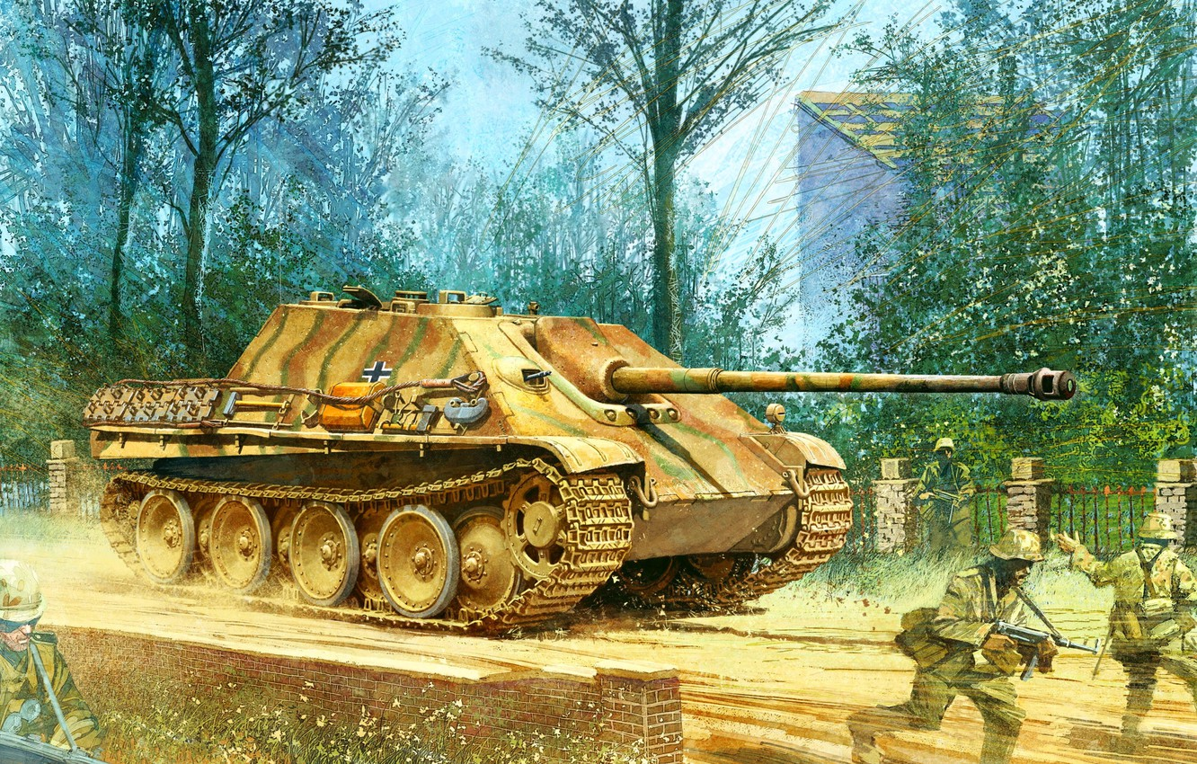 Photo wallpaper figure, the second world, the Germans, sau, the Wehrmacht, Jagdpanther, Sd.Car. 173, jagdpanther, self-propelled artillery, …