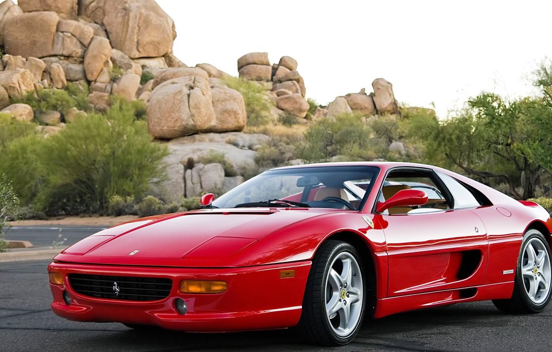 Photo wallpaper car, auto, Ferrari, red, red, F355