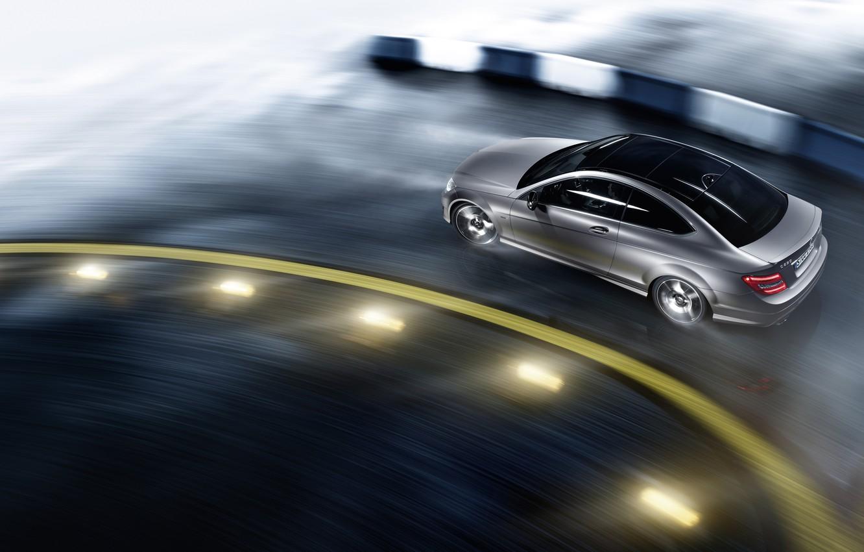 Photo wallpaper Mercedes, Mercedes, AMG, C class coupe