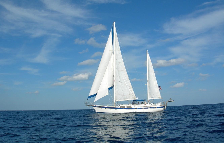 Photo wallpaper sea, photo, ship, sailboat, yacht