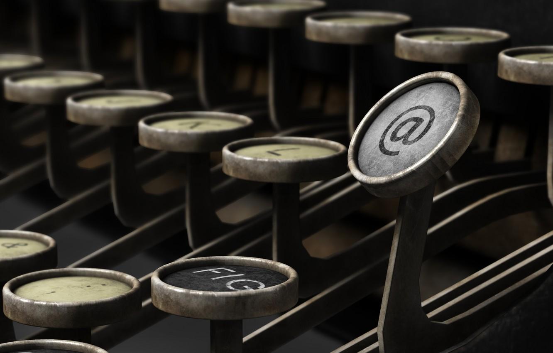 Photo wallpaper internet, key, typewriter