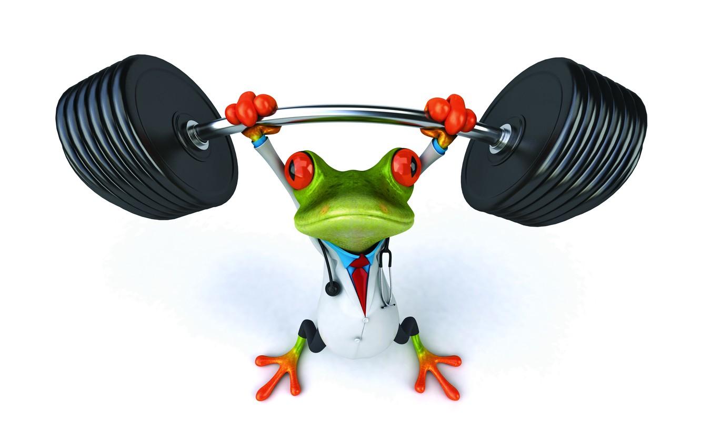Photo wallpaper frog, frog, funny, doctor