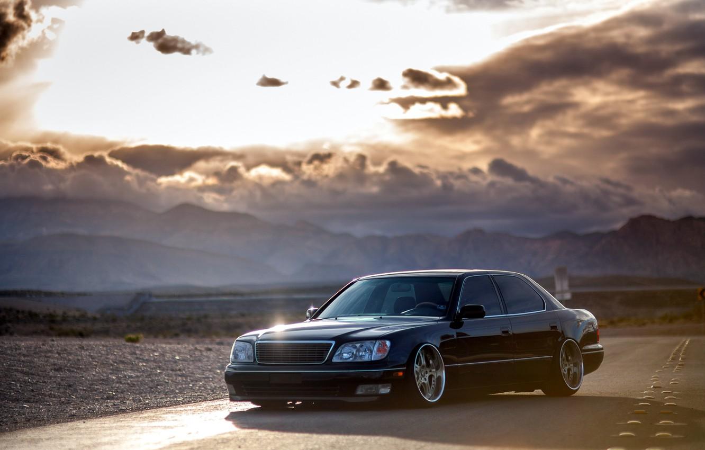 Photo wallpaper Lexus, black, VIP, 430, frontside