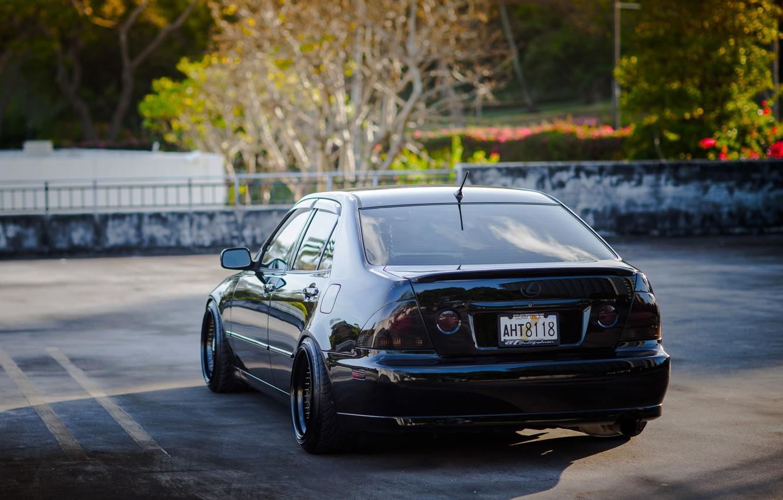 Photo wallpaper black, tuning, Lexus, black, Lexus, is200