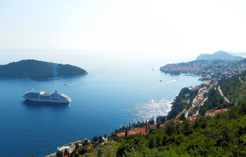 Photo wallpaper sea, blue, coast, Dubrovnik, Dubrovnik, Lokrum