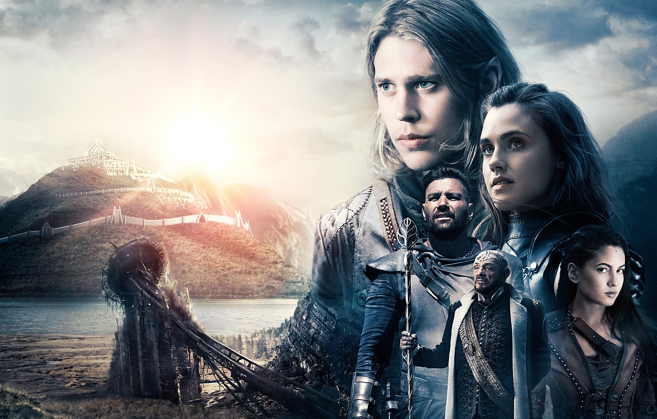 Photo wallpaper landscape, collage, fantasy, poster, characters, TV Series, The Shannara Chronicles, The Chronicles Of Shannara
