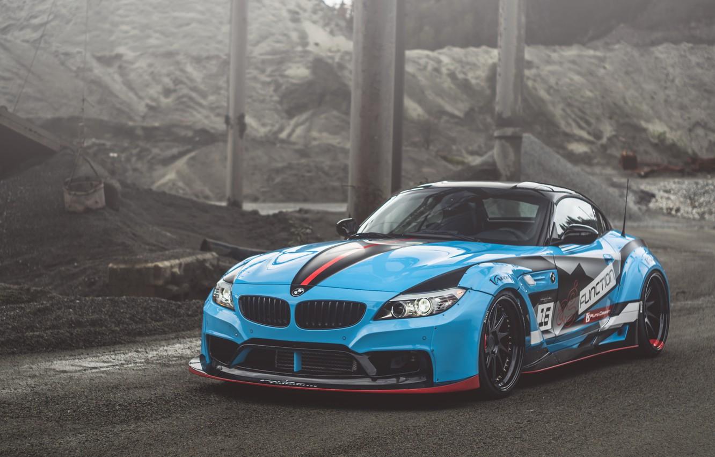 Photo wallpaper BMW, Blue, E89, Z4