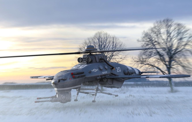 Photo wallpaper aviation, weapons, technique, art, American, drone, UAV