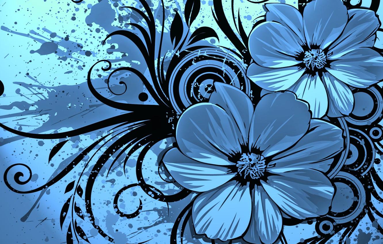 Photo wallpaper flowers, squirt, pattern, spot