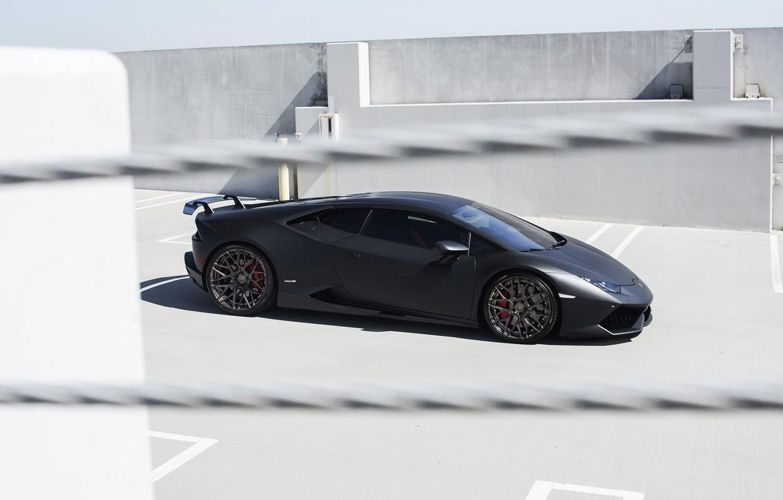 Photo wallpaper car, machine, tuning, Lamborghini, side view, Lamborghini, Huracan, GMG