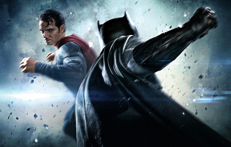 Photo wallpaper fiction, battle, battle, Batman, Ben Affleck, comic, Superman, superheroes, Henry Cavill, Henry Cavill, Ben Affleck, …