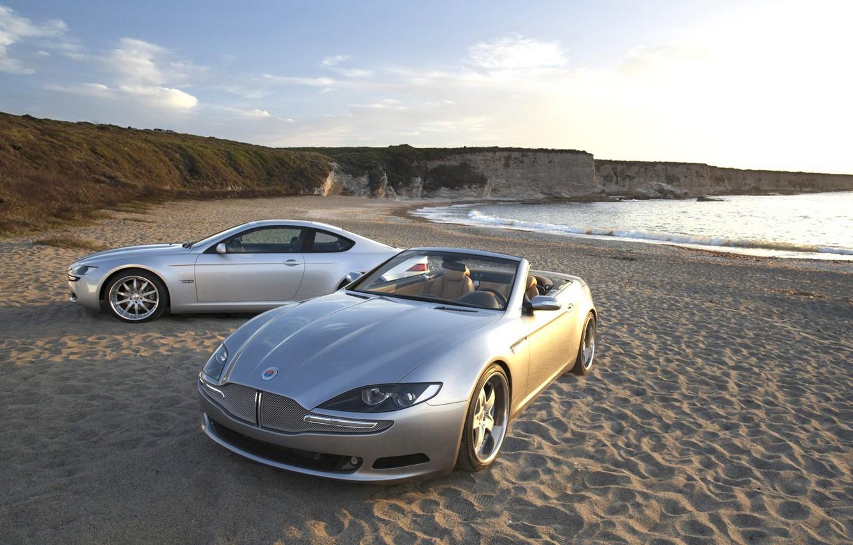 Photo wallpaper wave, auto, beach, Sand