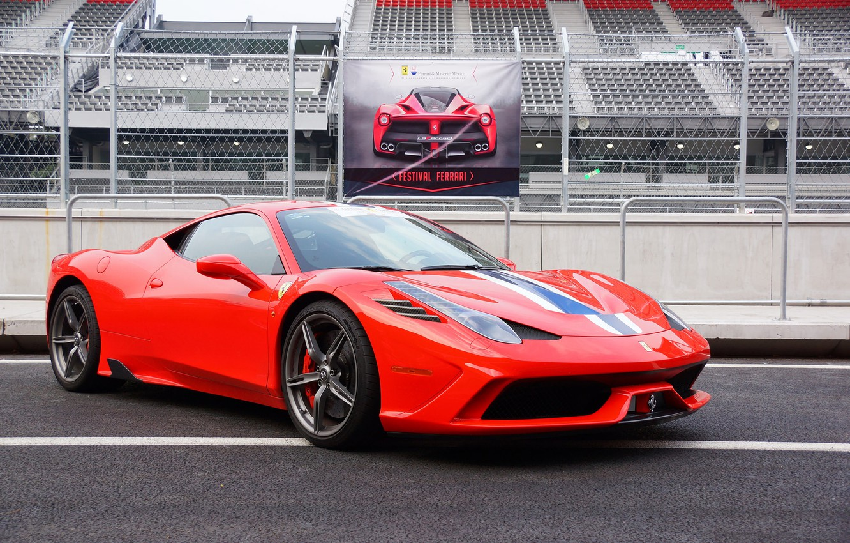 Photo wallpaper Ferrari, Red, 458, Speciale