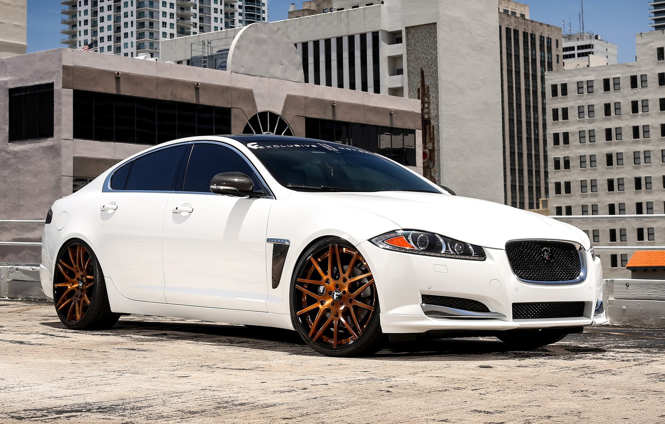 Photo wallpaper Jaguar, wheels, with, Forgiato