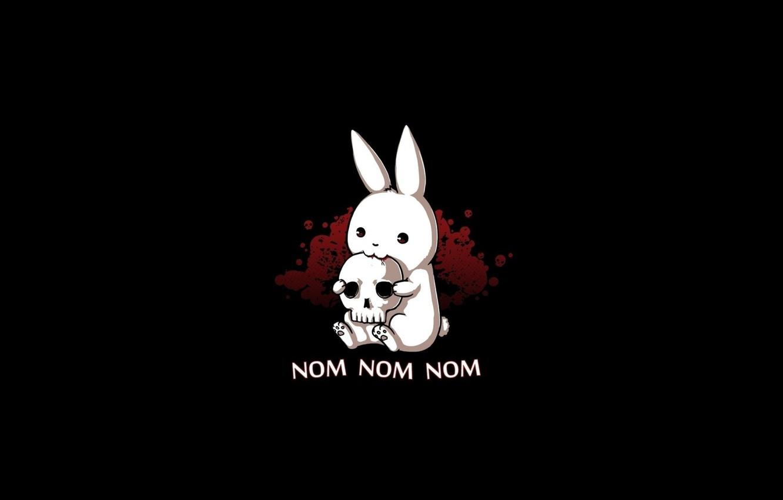 Photo wallpaper skull, hare, nom nom nom