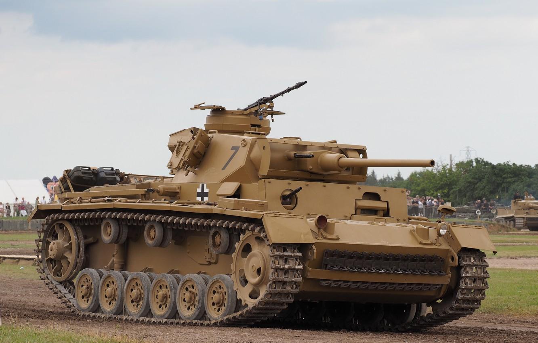 Photo wallpaper tank, armor, average, Panzerkampfwagen III, PzKpfw III