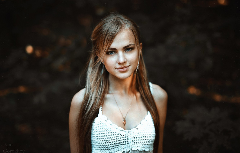 Photo wallpaper smile, model, Alla Emelyanova, Ivan Gorokhov, Alia Weimar