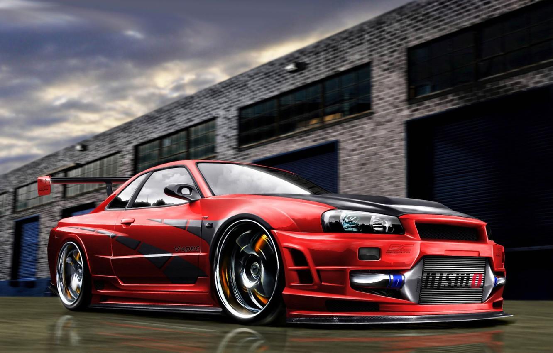 Wallpaper Nissan Art Skyline R34 Nismo Images For Desktop Section Nissan Download
