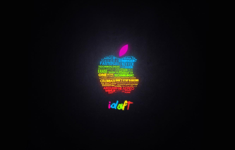Photo wallpaper apple, Apple, glow