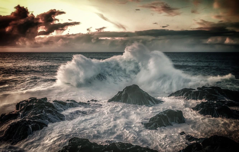 Wallpaper Stones The Ocean Wave Surf Spain Spain
