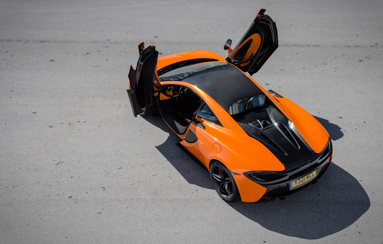 Photo wallpaper McLaren, the view from the top, 570S