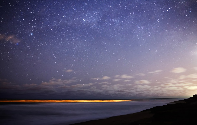 Photo wallpaper stars, lights, The milky way, Bungula, Toliman, southern sky
