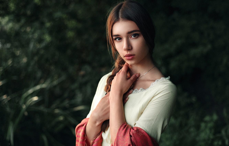 Photo wallpaper Girl, Light, Beautiful, Julia, Portrait, Natural, Maks Kuzin