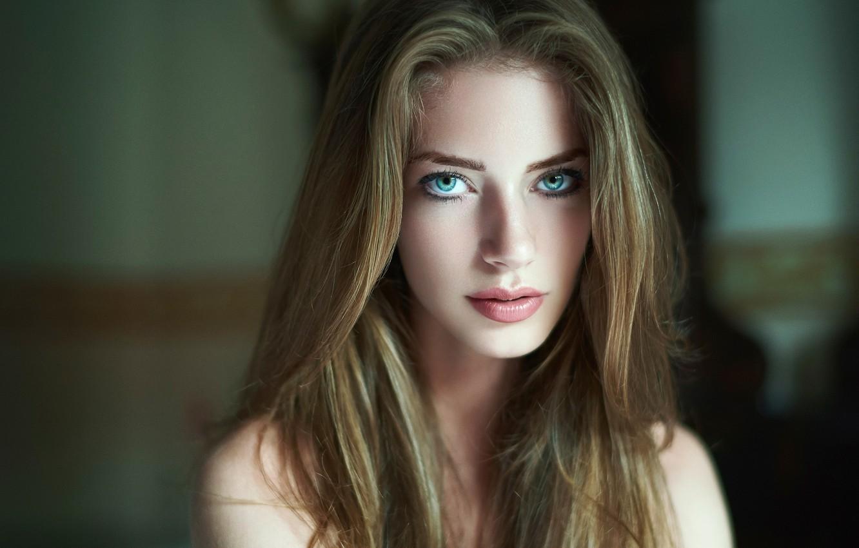 Photo wallpaper look, portrait, blue-eyed, Daniel Ilinca, Diana Dalban