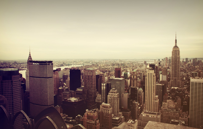 Photo wallpaper the city, New York, skyscrapers, Manhattan, New York City